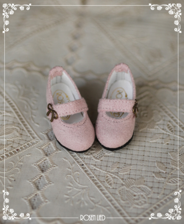 Suede shoes (baby pink)