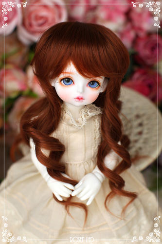 Girlish curl wig (New HRF - Brick red)