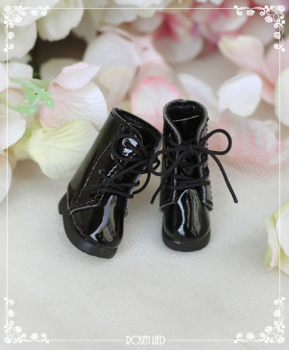 Black long boots (Enamel)