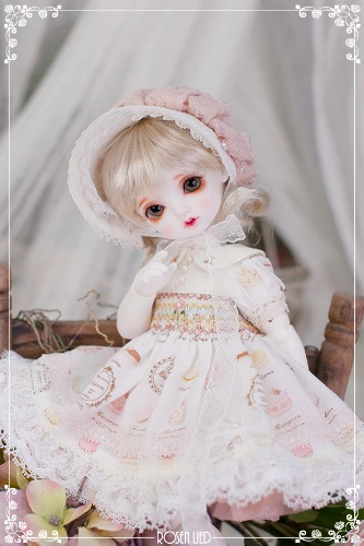 Limited Dress : White macaron